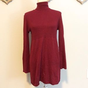 Soft Surroundings maroon sweater dress
